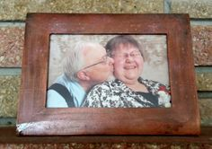 Bronze and black distressed picture frame 4x6 by MadeByMicky