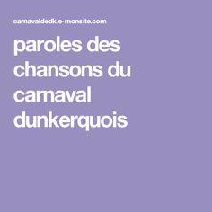 paroles des chansons du carnaval dunkerquois