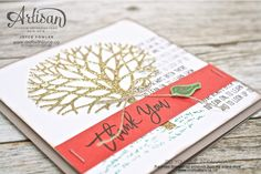 Thank you card with Thankful Branches bundle from Stampin' Up!