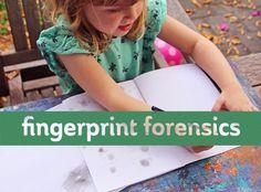 Science for kids: Fingerprint forensics