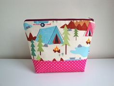 40b62a77a5 Cotton Wash bag - Toiletries bag - camping