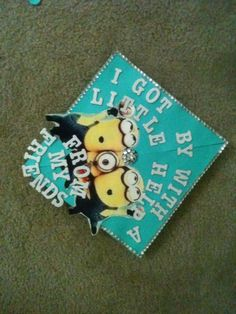 cool graduation caps! #graduation #minions #despicableme #happymoment