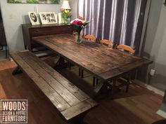 Rustic Trestle Table Trestle Table, Dining Table, Under The Table, Parsons Chairs, Woodworking, Rustic, Storage, Room, Furniture