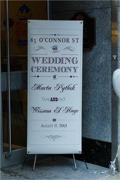 super large wedding sign #ceremonysign #outdoorwedding #weddingchicks http://www.weddingchicks.com/2014/01/06/weekend-wedding/