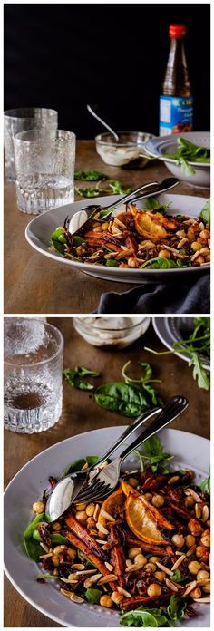 Roasted Moroccan Carrot Salad with Chickpeas Recipe