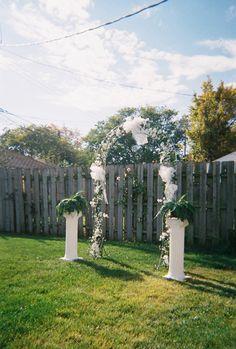 Small Backyard Wedding Ideas wedding wednesday 5 tips for a chic backyard wedding Cute For A Backyard Budget Wedding Reception Diy Wedding Pinterest Dance Floors Receptions And Wedding