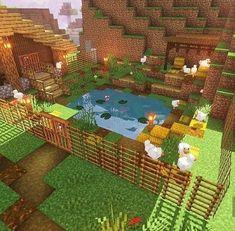Como é que está pessoa conseguiu colocar o escadote em pé sem um bloco atrás. Minecraft Crafts, Minecraft Farm, Minecraft Garden, Minecraft Plans, Minecraft Decorations, Minecraft Construction, Minecraft Survival, Minecraft Tutorial, Minecraft Blueprints