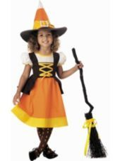Vintage Halloween Costumes Toddler Candy Corn Witch Costume - Back by popular demand, the toddler Candy Corn Witch is in stock and adorable! Dress Witch hat Tights Shoes, and broom sold separately SKU: Toddler Witch Costumes, Family Halloween Costumes, Girl Costumes, Children Costumes, Halloween Ideas, Happy Halloween, Halloween Party, Halloween Stuff, Vintage Halloween