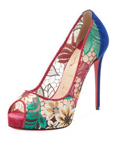 90d808dd047 Christian Louboutin Very Lace Platform Red Sole Pump