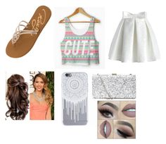 """""""summer time here I come"""" by skyeacker9 on Polyvore featuring Chicwish and Roxy"""
