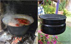 Retete la ceaun (bograci, catlan) - ce gatim in aer liber? | Savori Urbane Pasta, Food And Drink, Urban, Cooking, Outdoor Decor, Recipes, Home Decor, Baby, Green