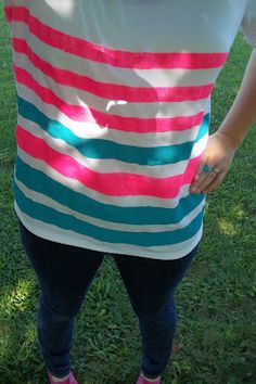 DIY Striped T-Shirt | White Rabbit Farm