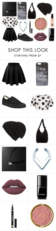 """""""Random Outfit #8"""" by spaceyphan ❤ liked on Polyvore featuring LE3NO, Vans, Être Cécile, Phase 3, Rick Owens, Lime Crime, Chanel, Yves Saint Laurent, Milani and MAC Cosmetics"""