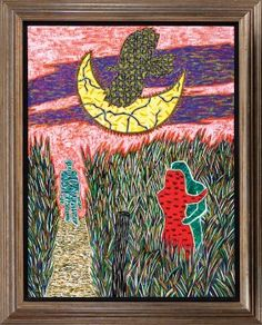 Francis X. Pavy (American/Louisiana, b. Outsider Art, Louisiana, Oil On Canvas, Auction, American, Frame, Artwork, Flow, Painting