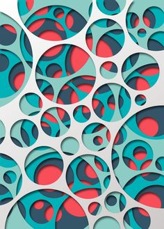 steel poster Abstract geometry geometric abstract abstraction circle round circular shadow cut out colourfull blue red Origami, 3d Paper, Paper Crafts, Papercut Art, Circle Art, Art Plastique, Paper Cutting Art, Cut Paper Art, Paper Cutting Patterns