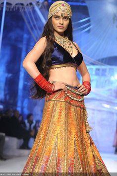 July 23, 13: Kangana Ranaut as show stopper for JJ Valaya http://www.valaya.com/ on Day 1 of Aamby Valley India Bridal Fashion Week, New Delhi