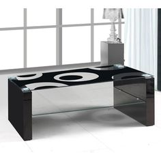 Crafted from finest quality materials for long life and strength, the Rome glass #coffeetable comes with black high gloss legs. It's a worth buying #furniture for your #stylishhome.
