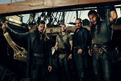 black sails season 3 / luke arnold, tom hopper, toby stephens, zach mcgowan