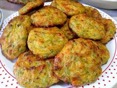 Greek Dishes, Cooking Light, Greek Recipes, Dessert Recipes, Desserts, Fritters, Zucchini, Cooking Recipes, Cooking Ideas