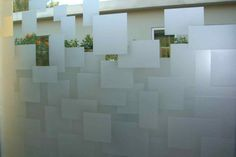 Floating Squares Tub window - etched glass window geometric squares floating…