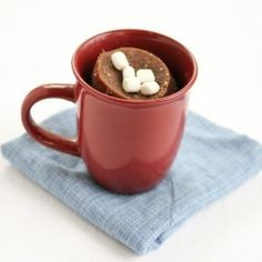Hot chocolate mug cake. Ready in five minutes