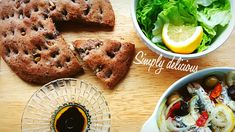 Olive bread & sardine.
