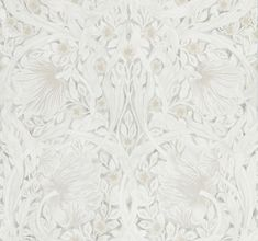 Pure Pimpernel by Morris - Lightish Grey - Wallpaper : Wallpaper Direct