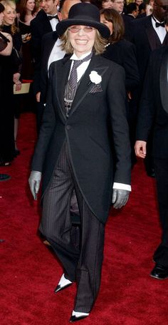 Outrageous Oscars Looks - Diane Keaton, 2004 from #InStyle