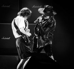Axl Rose live with Angus Young and ACDC.