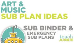 Create a sub plan so that you are good to go in the event of needing a substitute teacher as an art teacher or music teacher can make your life easier. There are many tips on putting together a sub plan and here are a few to get your started.