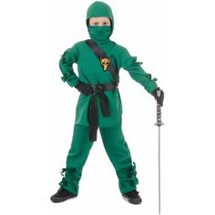 Great-looking ninja costume sure to transform your child into a cute but stealthy ninja warrior! It's a unique ninja costume perfect for . Buy Costumes, Costume Shop, Ninja Halloween Costume, Ninja Costumes, Halloween Ideas, Homemade Halloween, Halloween Night, Halloween Makeup, Homemade Costumes