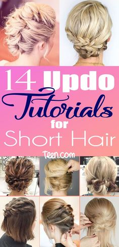 It may seem impossible to get your short locks into anything other than your classic hair-down 'do, but it's actually easier than you thought. Sure, updos are usually reserved for formal events like prom, but who says you can't amp up your New Year's Eve party style with your hair off your face?? Learn now to turn your bob into a GORGEOUS updo with the help of these hacks, tips and tricks