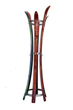 SkHook is a Sporty Coat Hanger Made From Old Skis – Hanger rack Décor Ski, Ski Chalet, Repurposed Furniture, Diy Furniture, Ski Vintage, Ski Lodge Decor, Coat Hanger, Coat Racks, Hanger Rack