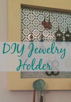 Make a DIY Jewelry Holder http://www.realgirlsrealm.com/2016/09/diy-jewelry-holder.html #DIY