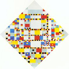 "BOOGIE WOOGIE ""Victory Boogie Woogie"" is the last painting by the Dutch painter Piet Mondrian. It was made but not completed in the year that Mondrian died. Piet Mondrian, Mondrian Art Projects, Theo Van Doesburg, La Haye, Boogie Woogie, Dutch Painters, Dutch Artists, Art Abstrait, Geometric Art"