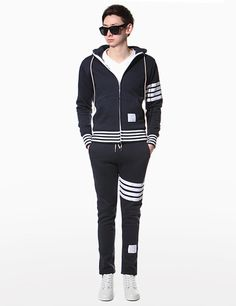Today's Hot Pick :Stripe Accent Hood and Pants Set http://fashionstylep.com/P0000UHB/theaction/out Opt for a sporty look with this stripe accent hood and pants set. Try this set with a pair of plain sneakers for a minimalist finish. - Drawstring hood jacket - Straight cut jogger pants - Stripe accent - Colors: Blue, Gray