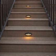 recessed led step light by deckorators deck steps decks. Black Bedroom Furniture Sets. Home Design Ideas