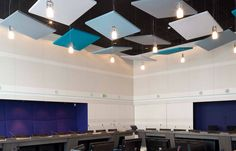 Acoustic Panels   Ceiling application allowing for variation in heights and interest