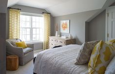 20 Inspiring Gray and Yellow Bedroom Colors (WITH PICTURES)