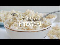 Técnica fácil y práctica para que el arroz integral siempre quede perfecto,con los granos de arroz todos separados, cocidos y nada batido, duro o chicloso.