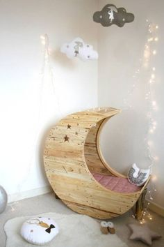 Moon bed for kids room