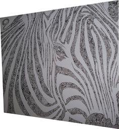 Leinwand 1200 x 1000  - Acryl und Pinsel... ZebraStyle :-D