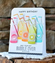 card soft drink MFT soda pop bottles Die-namics, #mftstamps May Your Day Bubble Over With Fun