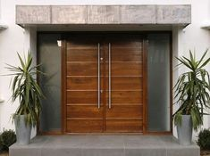 Creative of Contemporary Double Front Doors Inspiring Modern Double Entry Doors And Brilliant Modern Double Contemporary Front Doors, Modern Front Door, Front Door Design, Modern Entrance, Modern Contemporary, Front Door Entrance, House Entrance, Entrance Ways, Design Exterior