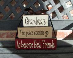 Mother's day/Grandma's house stacker blocks
