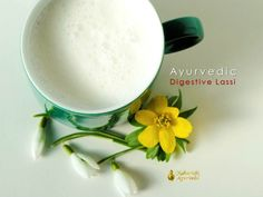 Ayurvedic Digestive #Lassi  In Ayurveda, digestion is king. Supporting digestion supports the digestive fire, called 'agni,' which creates #ojas, the subtle but powerful Ayurvedic master biochemical of happiness and immunity.