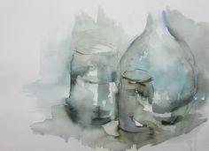 Glass / Cristales - Watercolour / Acuarela