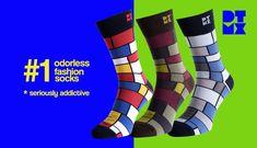 Mondrian Mania Art Socks 3-PACK