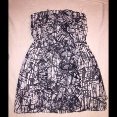 Black white dress sale Very cute.  Stylish black and white tube top dress. Create a bundle to save Dresses