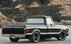 1968 Chevy - Creations n' Chrome's - Classic Trucks Magazine - Hot Rod Chevy C10, 1968 Chevy Truck, Classic Chevy Trucks, Chevy Pickups, Chevrolet Trucks, Classic Cars, Lowered Trucks, C10 Trucks, Pickup Trucks